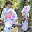 "Yukata set women making belt high grade still weave yukata 7 piece set ""in the light blue purple and Pink Roses ' yukata belt clogs Womens retro rose women kimono ladies yukata set-"