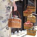 "Yukata bags purse large basket basket cart ""your purse or knitting Central watermark Atta [tax]"