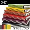 X47 STEEL A5 size lindresa refills with 4 spring bar ( system Handbook / x 47 / colour / steel / steel )
