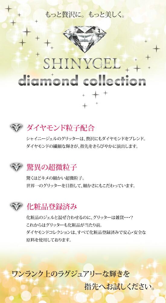 ダイヤモンド配合、超微粒子、化粧品登録済みのグリッター。
