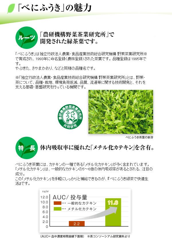 べにふうき緑茶のスッキリ効果には理由があります