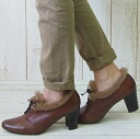 9 (コルソローマノーヴェ) sale CORSOROMA leather & mouton race up pumps