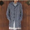 PRIT wool cotton linen gingham hood coat * * saleout10P02jun13