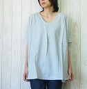 comme toujours (Comt Joule) TOP thread chambray Viyella gathers transformation pullover