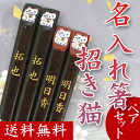 Put one name in the world chopsticks Maneki Neko (past / 2 pair) (Bill pulled available at / + \325) presents, gift, gifts, celebrations, mother's day, father's day and respect for the aged day, memorabilia, gift-giving, 内 祝 I, 60th birthday celebration