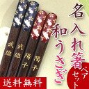 Put one name in the world chopsticks rabbit (past / 2 pair) (Bill pulled available at / + \324) presents, gift, gifts, celebrations, mother's day, father's day and respect for the aged day, memorabilia, gift-giving, 内 祝 I, 60th birthday celebration