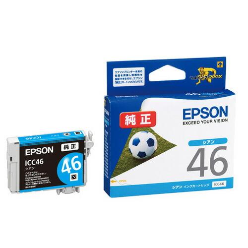 【新品】(エプソン) EPSON ICC46 インクカートリッジ シアン EPSON