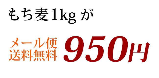 もち麦がメール便送料無料で950円!