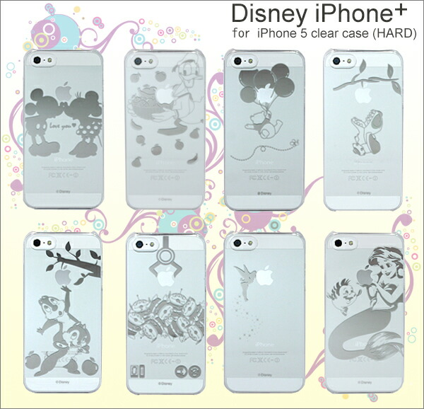 iPhone+ Disney for iPhone5 clear case(HARD)