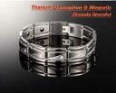 Made of pure titanium germanium and zirconia zirconia bracelet 10 stone ゲルマチップ 2 stone black magnet 8 stone BFI-6617