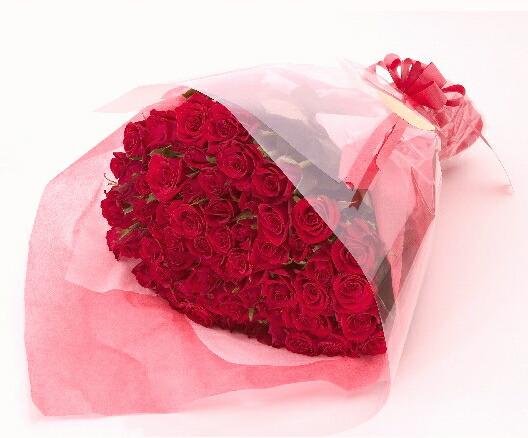 【豪華大輪系】赤バラ60本の花束