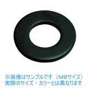 Stainless steel / black-plated round washer M6
