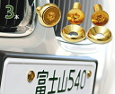 [Select size] stainless steel gold plated license plate bolts [pintorx plate head + RW 3set / number bolt]