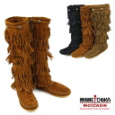 Five steps of MINNETONKA 5Layer Fringe Long Boots Mine Tonka fringe suede long bootses