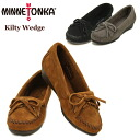 Minnetonka (MINNETONKA) Kirsty wedge (Wedge Kilty) moccasin suede shoes for ladies/women's /