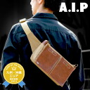 [free shipping] body bag hips bag Rakuten ranking first place regular customer! [A.I.P/ エーアイピー] men gap Dis real leather cowhide leather bum-bag fanny pack 01007038 [RCP]fs2gm