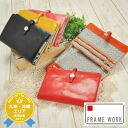 Frameworks FRAME WORK! Wallet 47003 Ladies featured leather