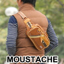 Moustaches MOUSTACHE! Body bag waist bag ELO-5001 mens ladies West porch