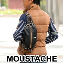 Moustaches MOUSTACHE! Body bag shoulder bag YUA-5075 mens ladies diagonally over one shoulder