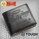 Tough TOUGH! Two bi-fold wallet 68631 mens folding wallet leather leather tough brand