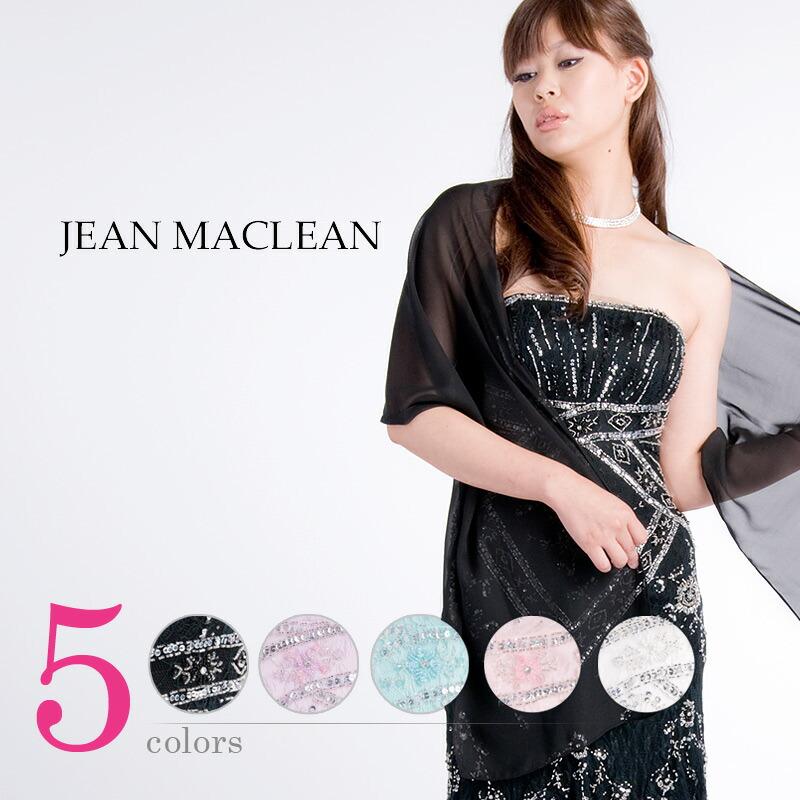 ポイントはユラユラ揺れるレースの裾♪☆ストール付きミニドレス☆ 5color JEANMACLEAN