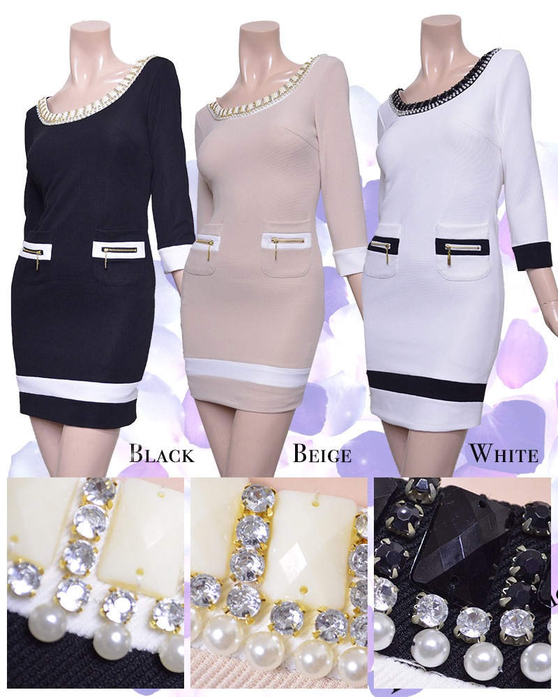 キャバ嬢 ドレス【IRMA|イルマ】上品さを兼ね備えたドレスでおもてなしを★シックなワンランク上のワンピースです!