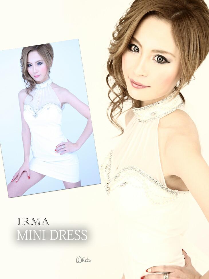 【IRMA|イルマ】フェミニンなパールビーズ付!パーティ等にもピッタリなミニドレス☆