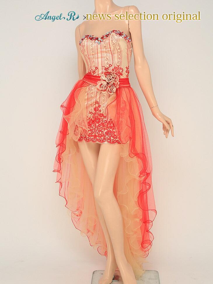 キャバ嬢 ドレス【Angel R|エンジェルアール】】2Wayの着こなしができちゃうハイ&ロードレス
