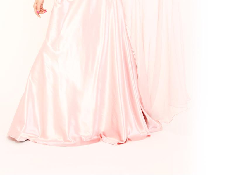 キャバ嬢 ドレス【Angel R|エンジェルアール】プリントと無地がグラデーション感覚でコラボ!!ゴージャスなロングドレス♪