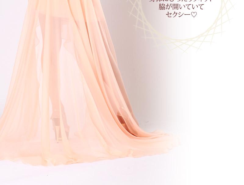 キャバ嬢 ドレス【Angel R エンジェルアール】プリントと無地がグラデーション感覚でコラボ!!ゴージャスなロングドレス♪