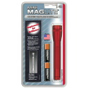 Mini-Maglite AA holster pack red