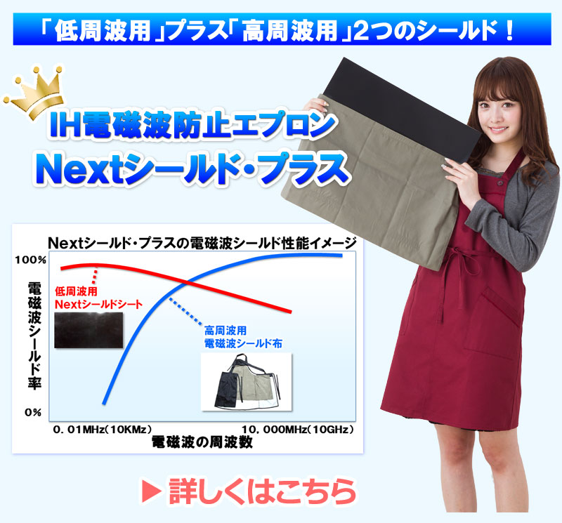 IH電磁波防止対策エプロン Nextシールド・プラス