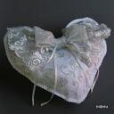 The ring pillow finished product handicraft wedding wedding ceremony gift which a silver lace has a cute is available