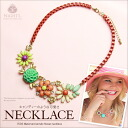 Metalakurulflowernecklace ☆ wedding & party in daily! ★ Metal and acrylic flower necklace-
