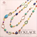 Acryljuerlongnecklace ☆ wedding & party in daily! ★ Acrylic jewel a long necklace for-
