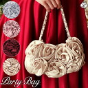 The bag party bag party wedding ceremony second party bag clutch bag that there are a lot of Rose party bag ☆ rose bag ☆ roses softly which is usable in conformity to party wedding ceremony second party dress●