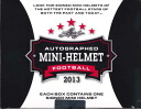 2013 LEAF AUTOGRAPHED MINI-HELMET FOOTBALL