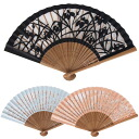 Paper-cutting work (I go to the bait) high quality silk folding fan
