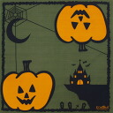 KONOMI seasonal wrapping 10 small Halloween-month size (50 cm) cotton 100% furoshiki washing OK ♪ KONOMI tricks-or-treats and Jack-o'-lantern / pumpkin / pumpkin / fall monthly series