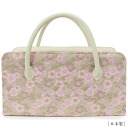 Rikyu bag - kimono back tea party bags, Boston bags / cherry/26-4 - formal attire and visiting tomesode colors-solid color