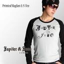 In Jupiter &Juno Jupiter and Juno Printed Raglan Long Sleeve Tee (print Raglan l/s T shirt)