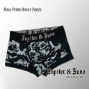 Jupiter &Juno (ジュピターアンドジュノ) Rose Print Boxer Pants (rose print boxer shorts)