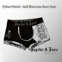 Jupiter &Juno (ジュピターアンドジュノ) Python Printed×Skull Rhinestone Boxer Pants (Python x skull rhinestone Boxer shorts)