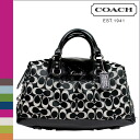 Coach COACH tote bag [F15440] black x White large Gallery patent leather zip women's [regular outlet]