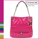 Coach COACH poppy POPPY tote bag [F19830] magenta poppies リキッドグロススリムトート women's [regular outlet]