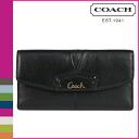Point double coach COACH long wallet [F48062] black Ashley leather checkbook wallet Lady's [regular outlet]