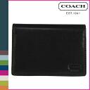 Coach COACH 2 fold wallet black Watson compact ID wallet
