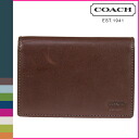 Coach COACH two folding mahogany Watson compact ID wallet