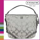 Coach COACH shoulder bag grey 2-Way women's Chelsea シグネチャーカタリーナ