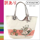 Coach COACH tote bag multi-color Beach shell motifs ladies